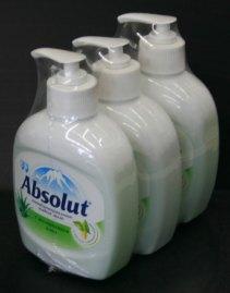 Групповая упаковка жидкого мыла по 3 штуки