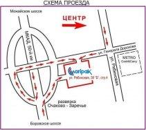 Схема проезда MARIPAK Москва