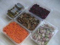 Упаковка салатов. Упаковка винегрета