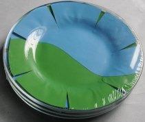 Упаковка стеклянной посуды тарелки