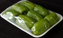 Упаковка овощей на подложке