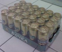 Групповая упаковка банок пива